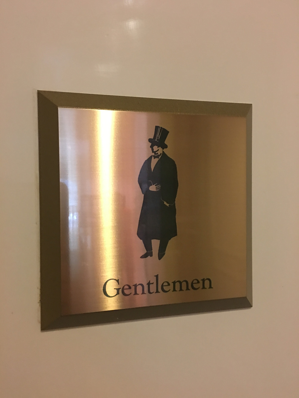 Men's Room Sign Outside of Citricos/Victoria & Alberts
