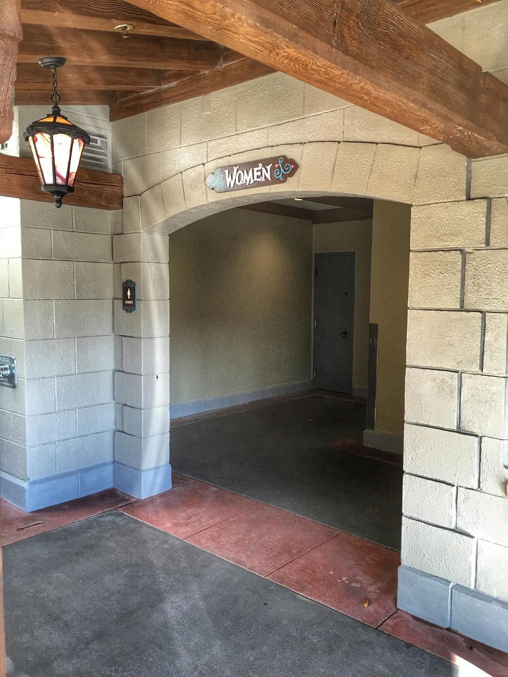 Entrance to Women's Loo, Cheshire Cafe, Magic Kingdom