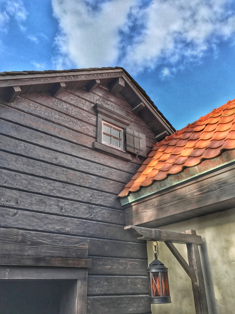 Another view of the  Norway restrooms exterior, Epcot