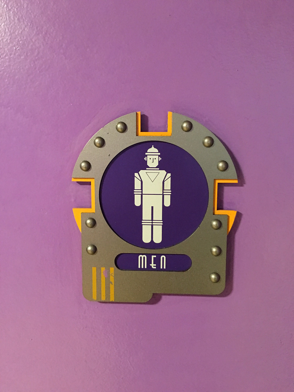 Close-Up Men's Room Sign Tomorrowland Terrace Restroom
