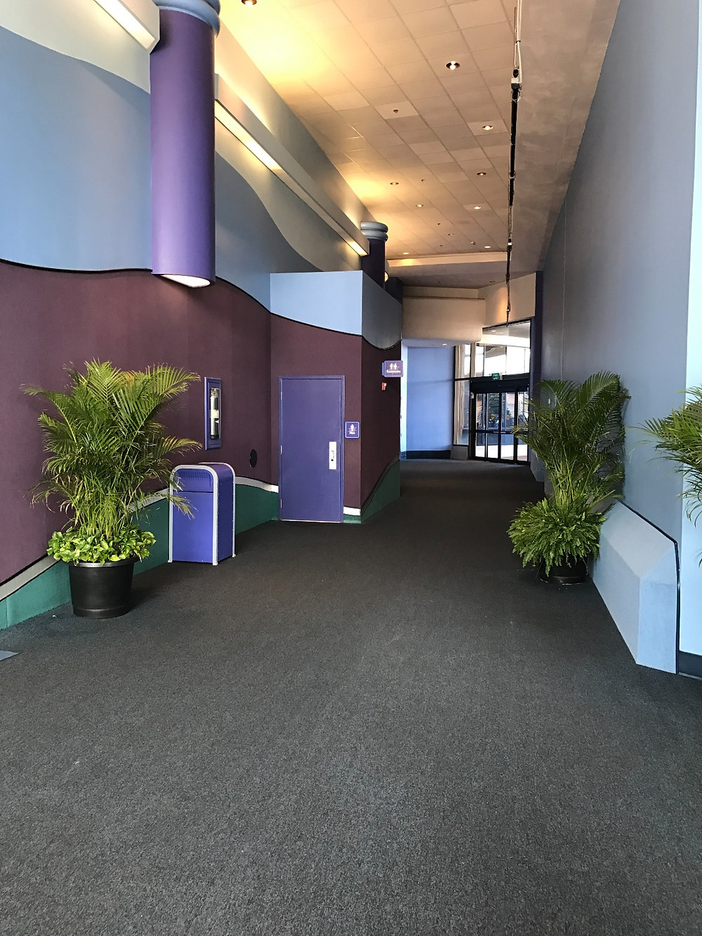 View of the Innoventions West Men's Room from the Southwest Entrance