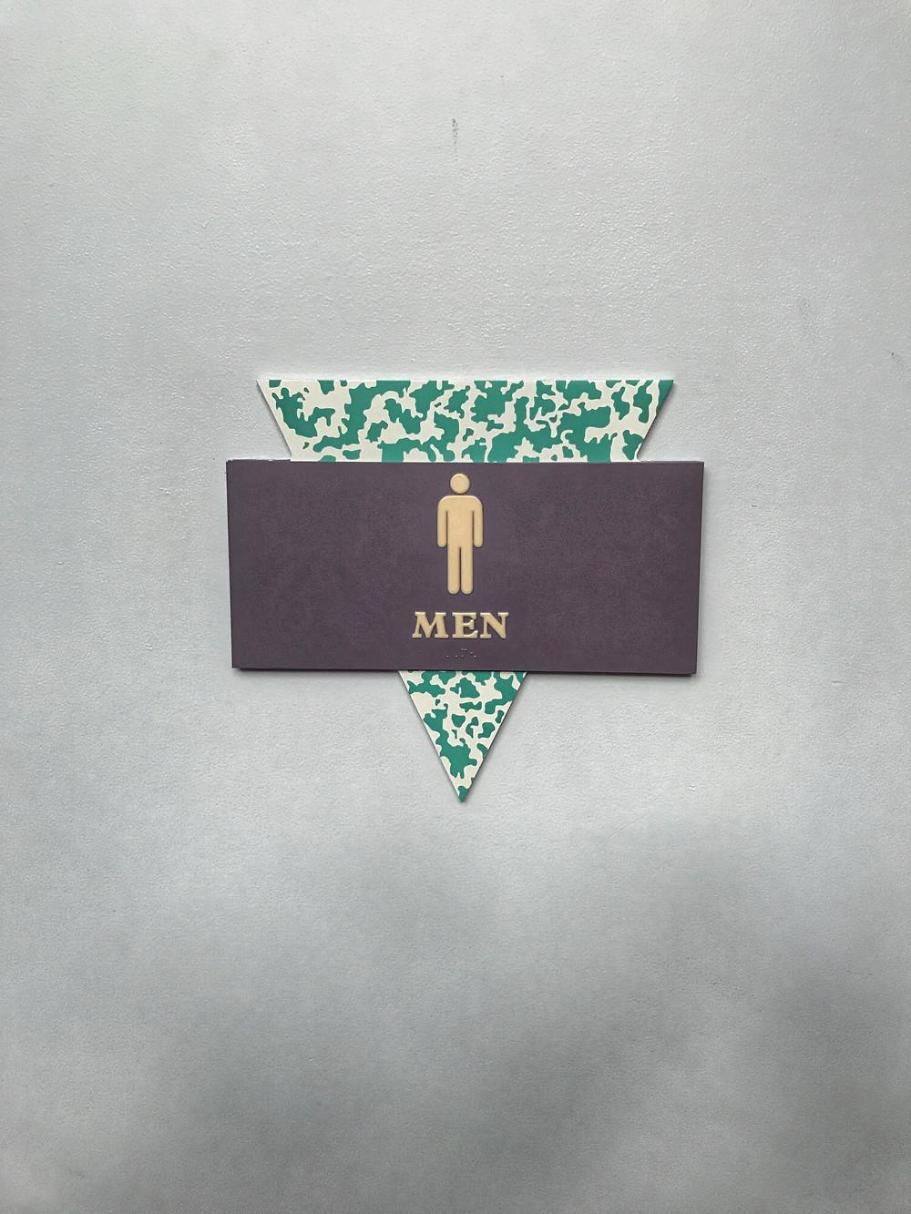 Men's Room Sign, Wonders of Life Pavilion, Epcot