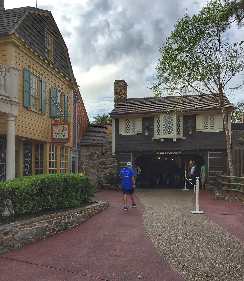 View of the Breezeway Restrooms from Frontierland