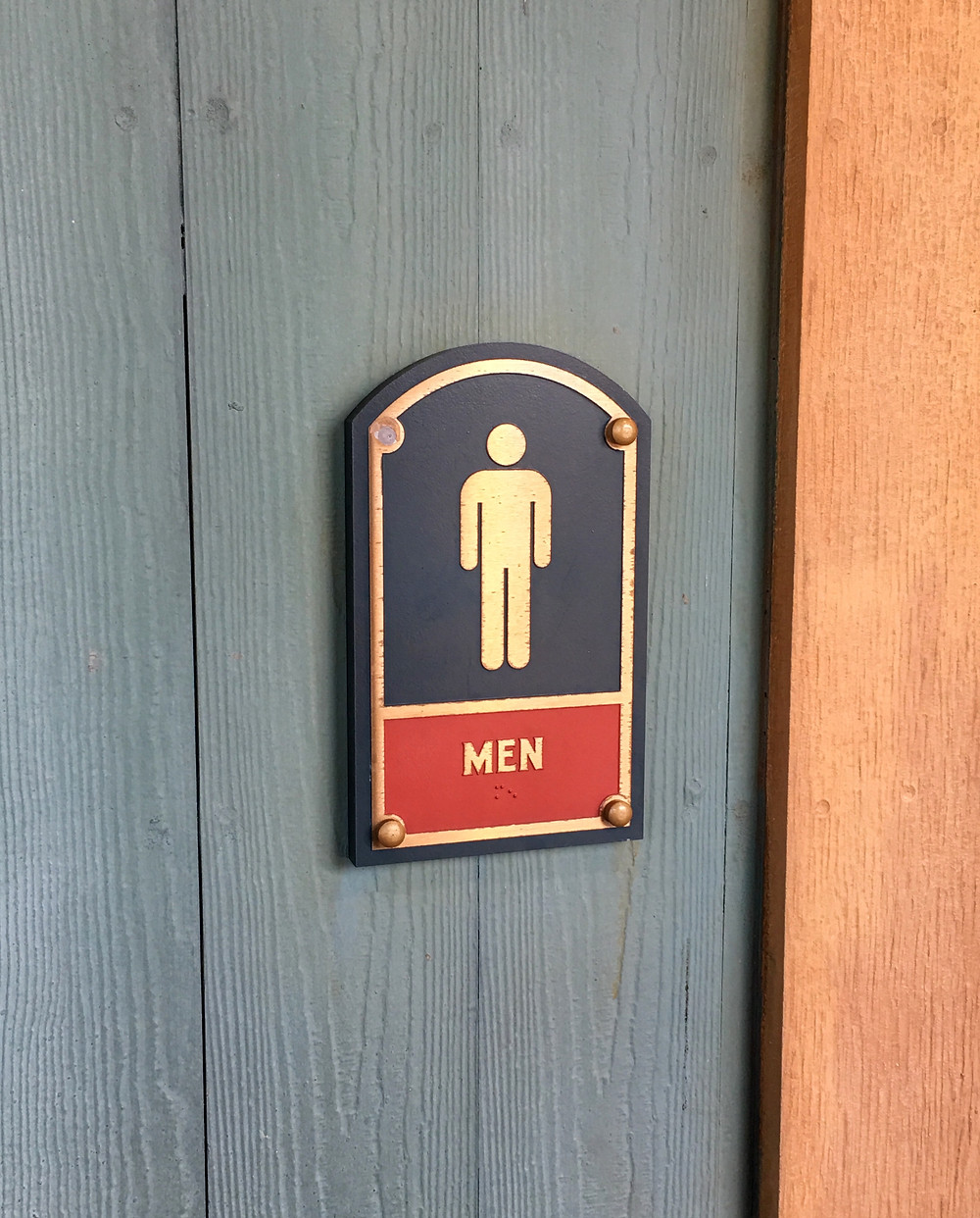 Men's Room Sign, Storybook Circus Restroom, Magic Kingdom