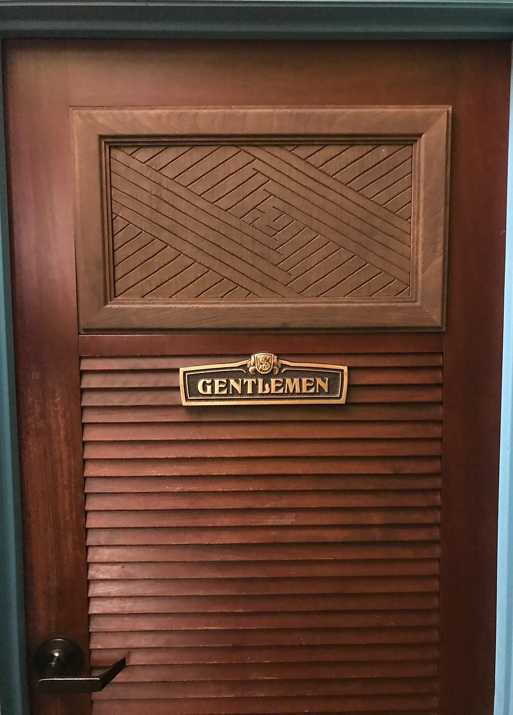 Door to Men's Restroom, Skipper Canteen