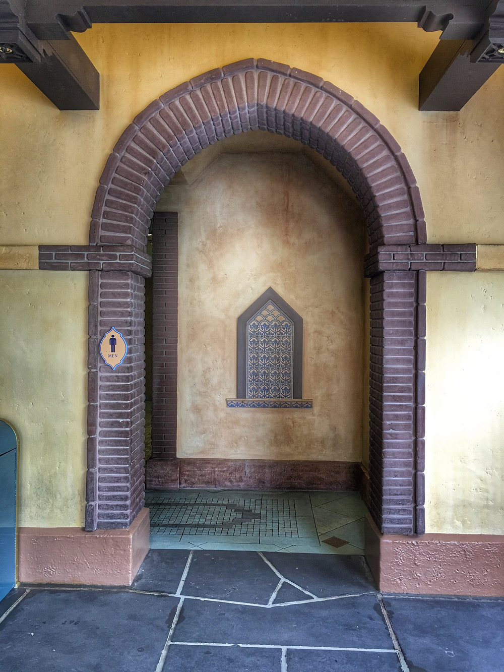 Gateway to the Men's Room, Magic Kingdom, Frontierland/Adventureland Breezeway