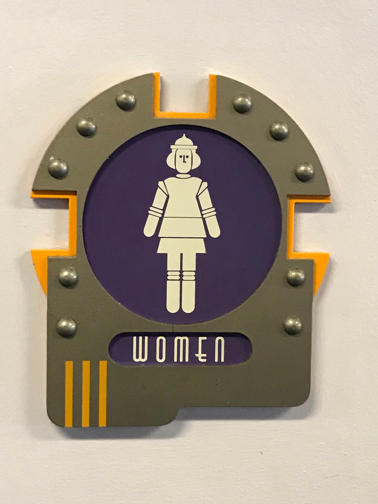 Women's Room Sign at Cosmic Ray's