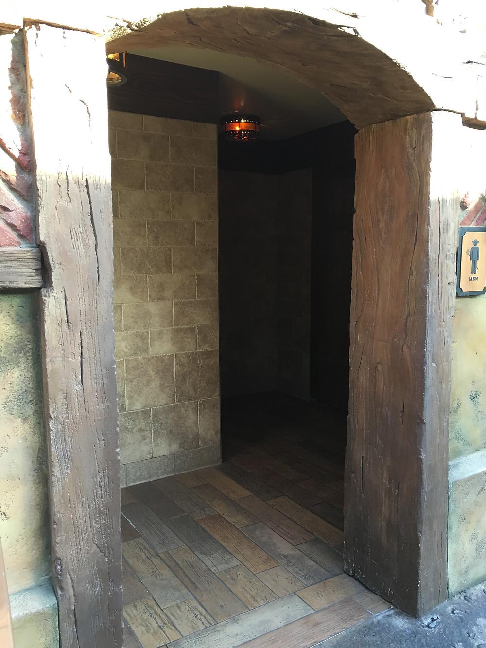 Entrance to the Men's Room, Gaston's Tavern, Magic Kingdom