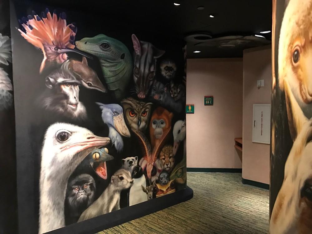 Mural Outside of Rafiki's Planet Watch Restrooms