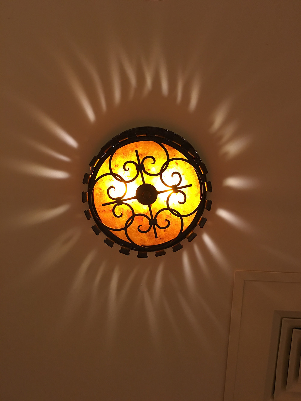Overhead Light Fixture, Gaston's Tavern Loo