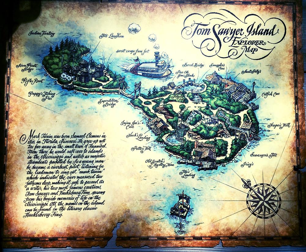 Map of Tom's Island