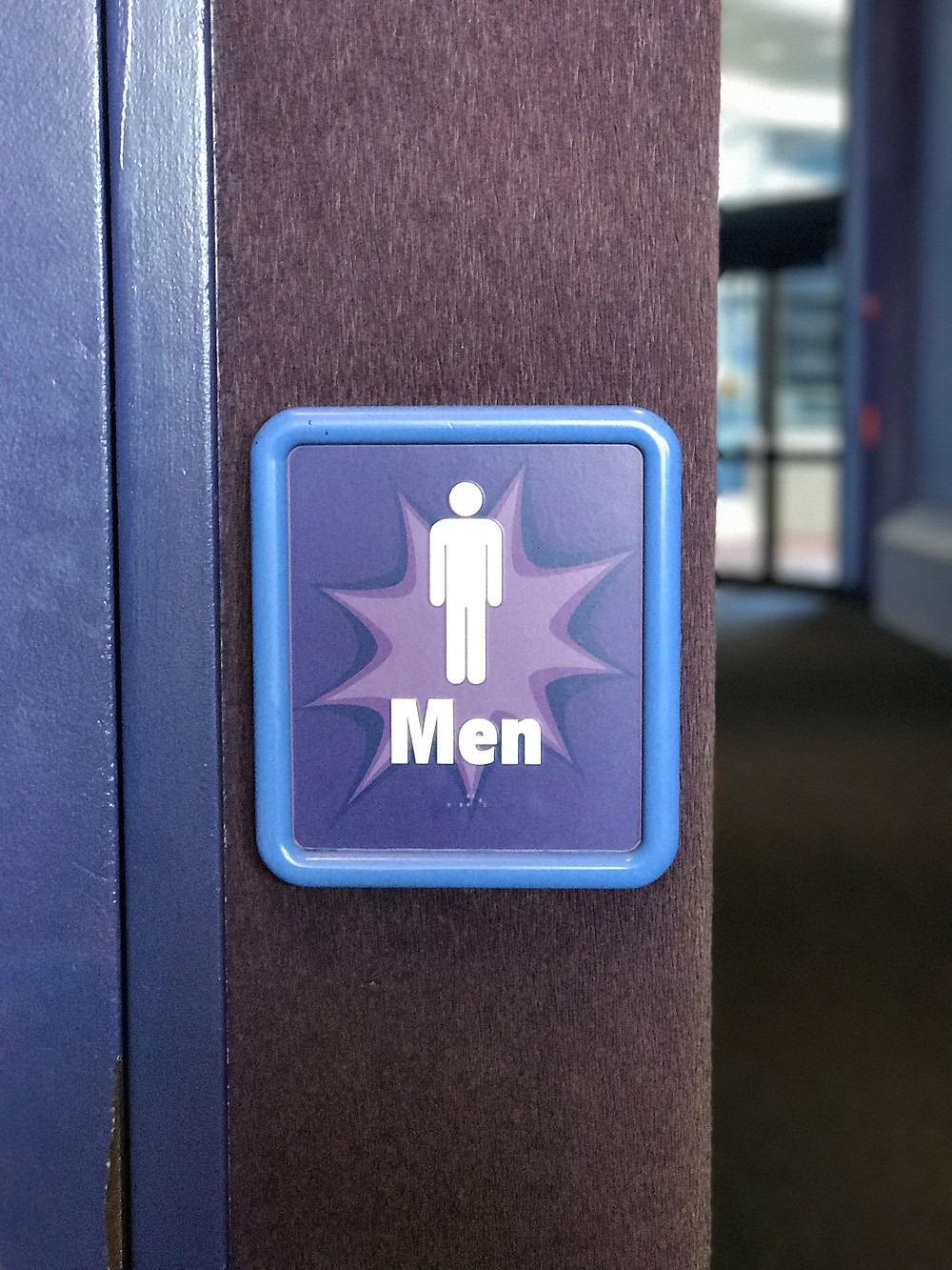 Men's Room Sign, Innoventions West Loo