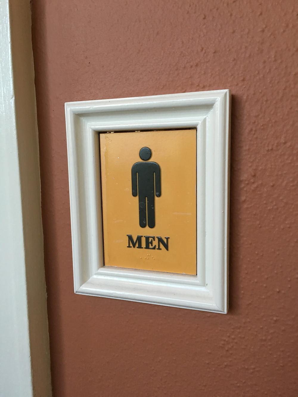 Men's Room Sign, Liberty Inn, American Adventure, EPCOT