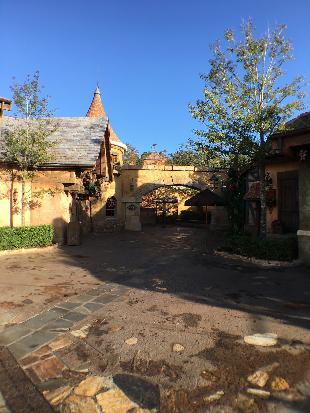 Looking towards the Gaston's Tavern Loo from the Fountain Courtyard