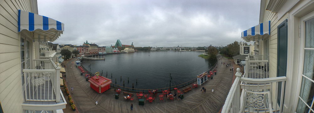 Panoramic View of Crescent Lake from a Deluxe Villa at Disney's Boardwalk Resort