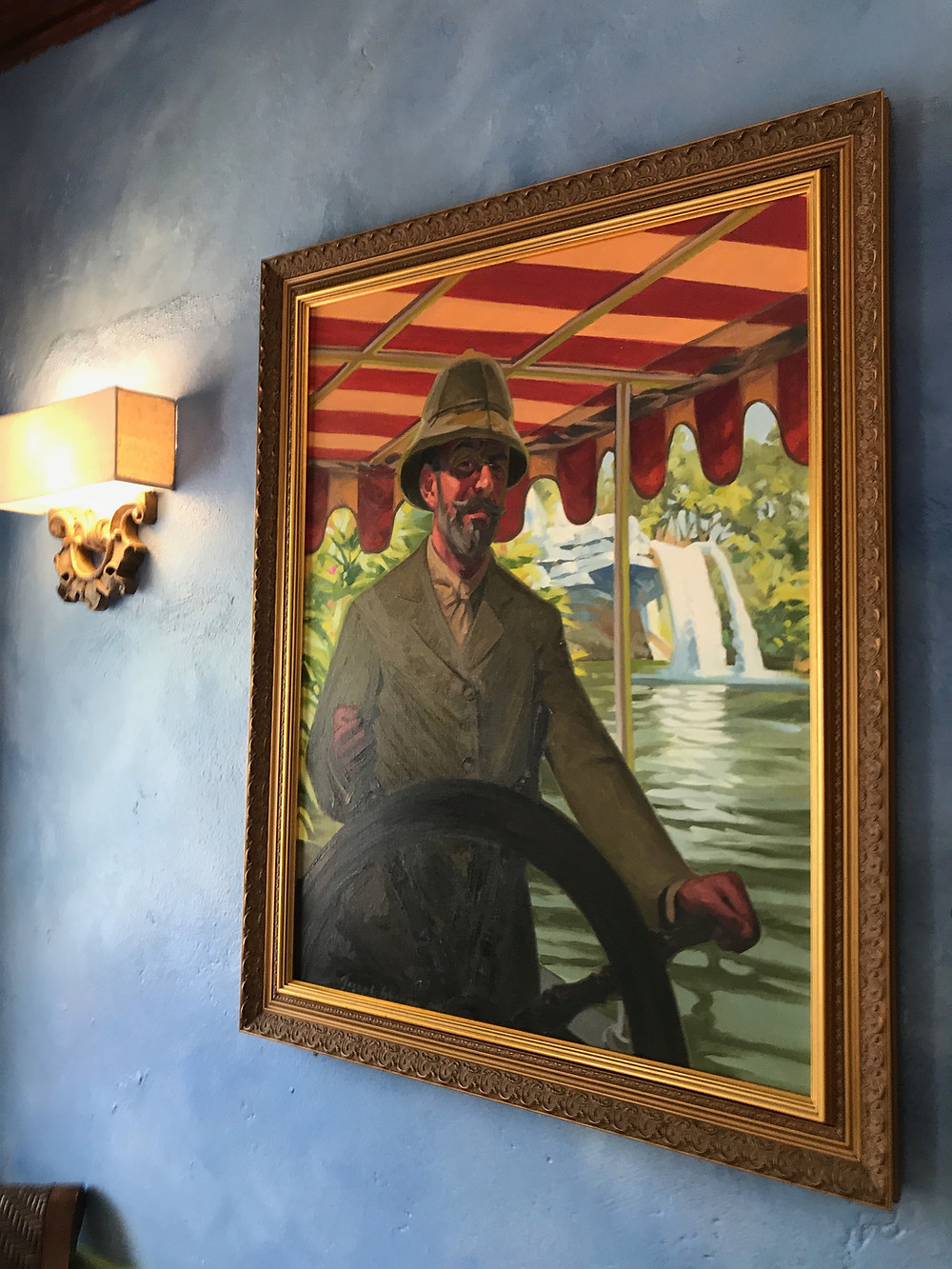 Framed Portrait in Lobby, Skipper Canteen