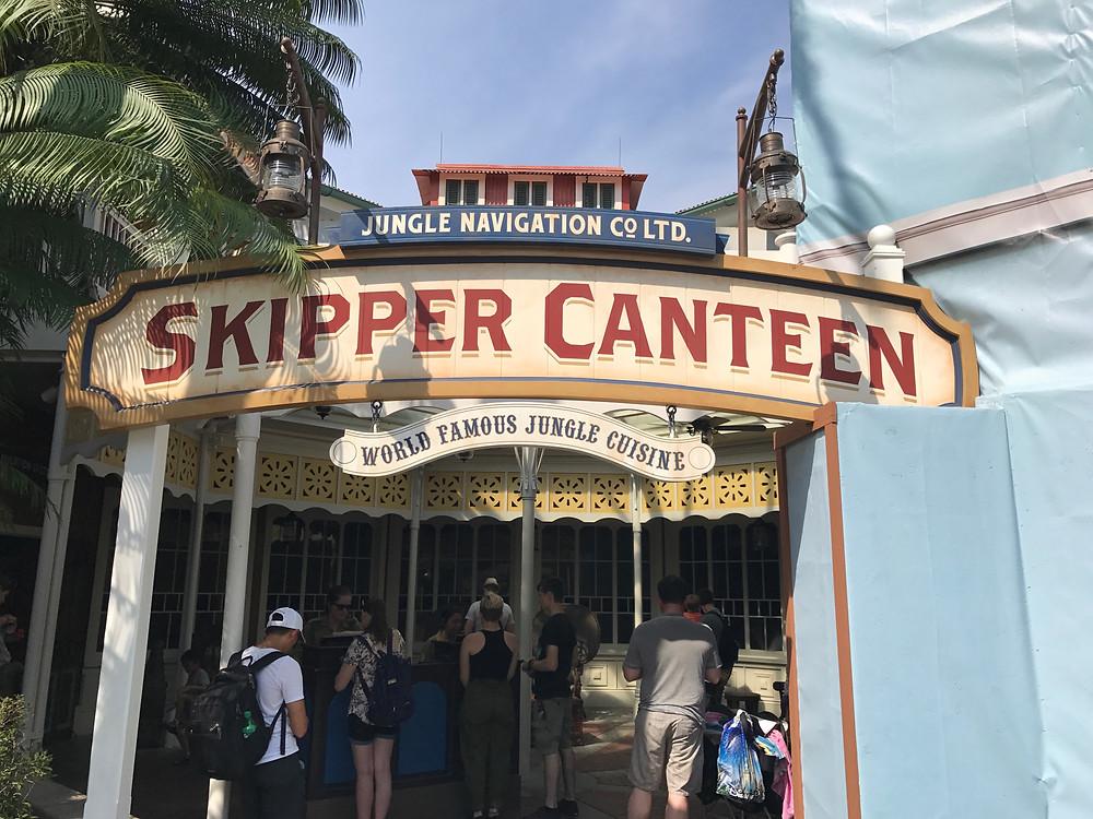 Entrance Sign to Skipper Canteen, Magic Kingdom