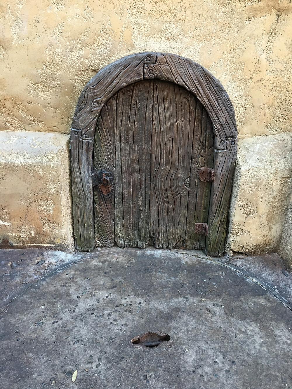 Mystery Door, Outside Gaston's Tavern Loo, Magic Kingdom