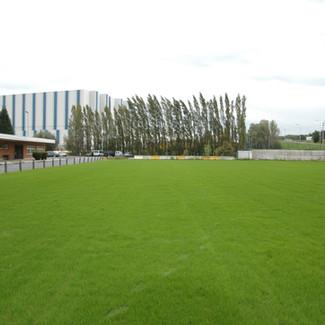 Aanleg van een voetbalterrein te Heffen