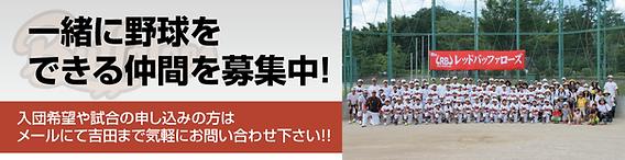 一緒に野球をできる仲間を募集中!