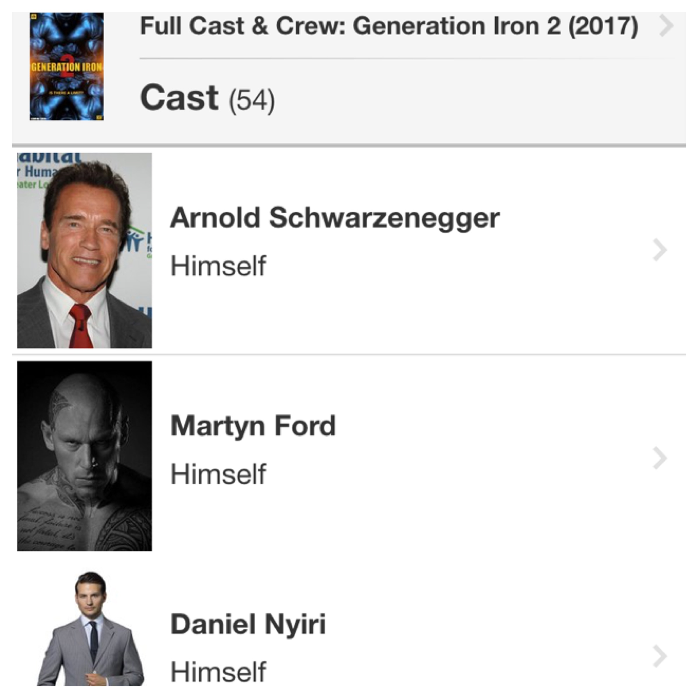 Daniel Nyiri in Generation Iron 2 movie