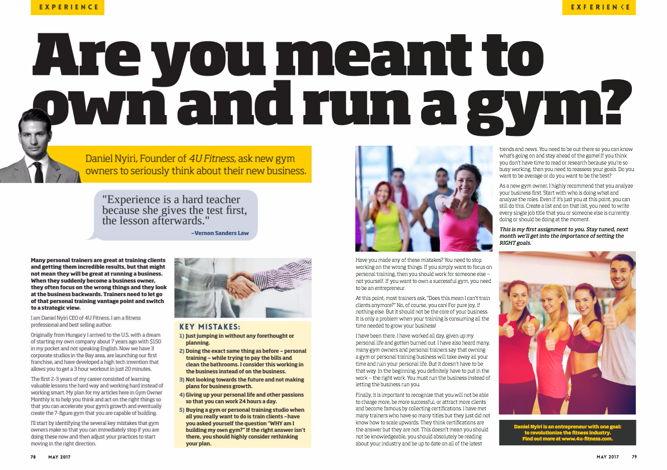 Daniel Nyiri Gym Owner Monthly Feature