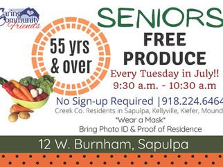 Free Produce for Seniors 55+