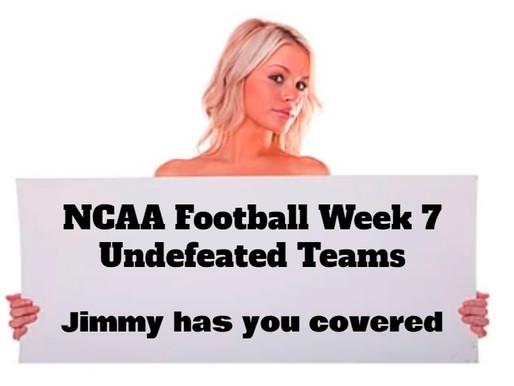 NCAA Football Week (7) Top Undefeated Teams