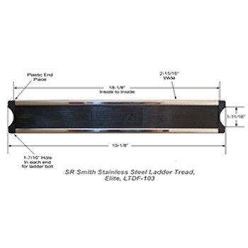 """20"""" Elite Swan Stainless Steel Ladder Step"""
