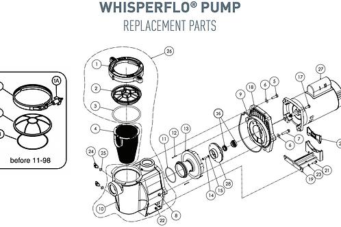 Pentair WhisperFlo Pump Parts