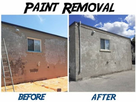 2700 Sq-Ft Commercial Building Paint Removal