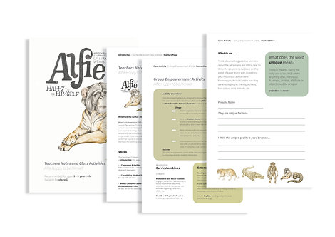 Teachers Notes and Activities - Alfie Happy to be Himself