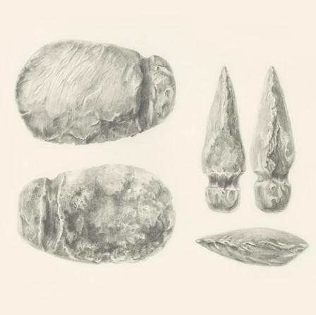 STONE AXE HEAD Hafted Ground Stone Axe Head
