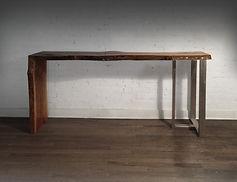 custom live edge wood furniture