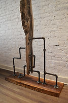 Reclaimed wood sculpture by artist Paul Kruger