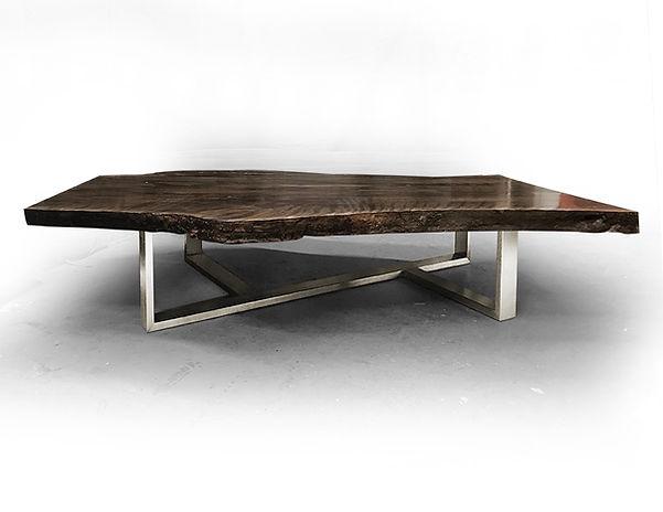 Natural wood coffee table tree slice. Live edge wood slab.
