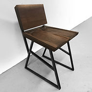 Modern contemporary sculpted chair inspired by Sam Maloof.