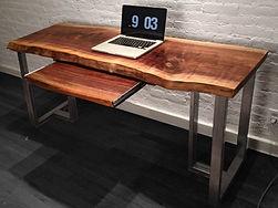custom, live edge desk, reclaimed wood furniture