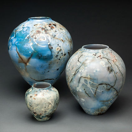 Blue Saggar Fired Vessels