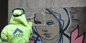 Hassas kumlama doğal taş temizliği Grafiti Temizliği