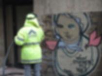 Galata Grafiti Temizliği
