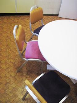 6 Kitchen chairs makeover