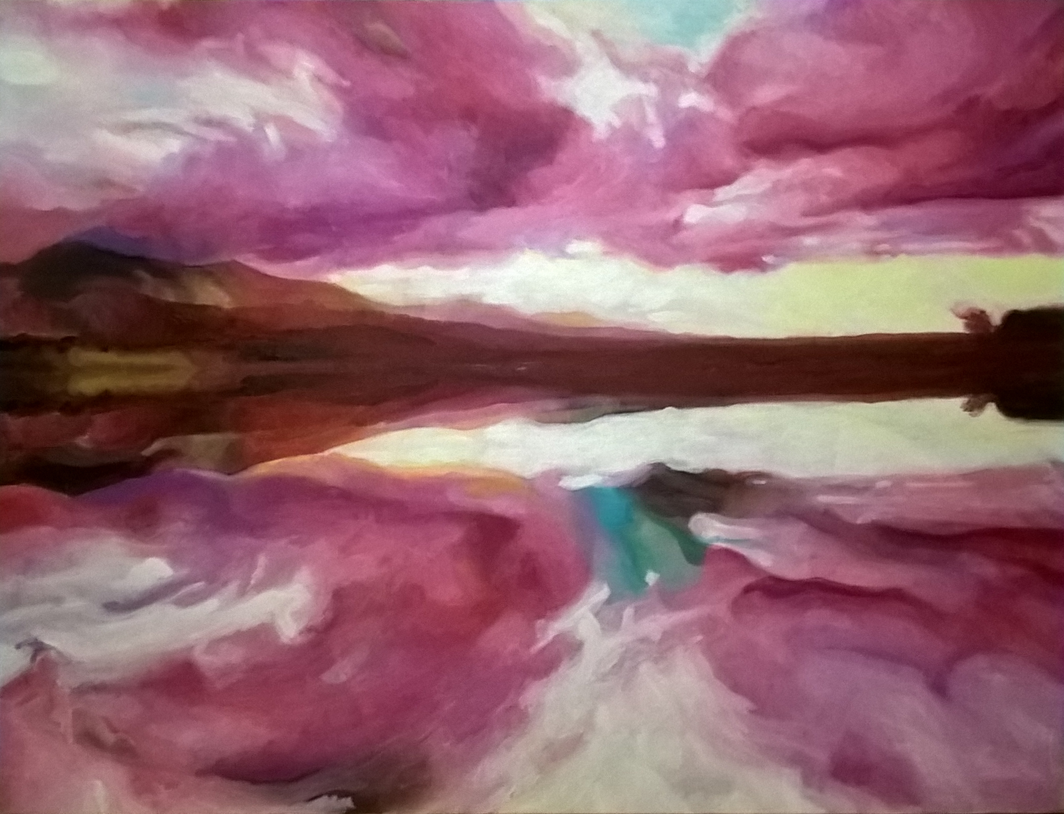 paysage au reflet 89x116