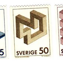 Estampilla Figuras Imposibles Suecia 250