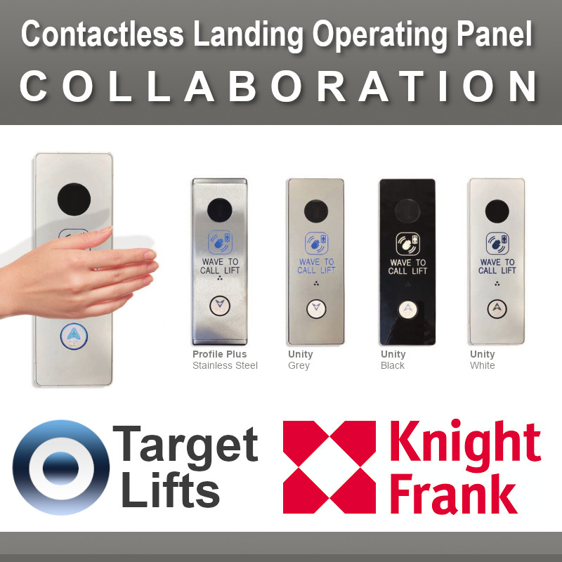 A graphic showing a new contactless lift operating panel