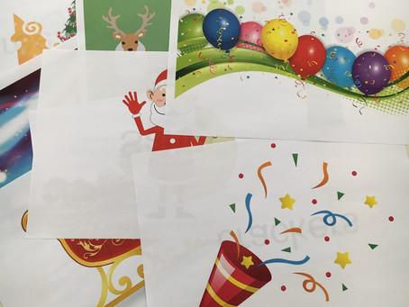 クリスマスフラッシュカード