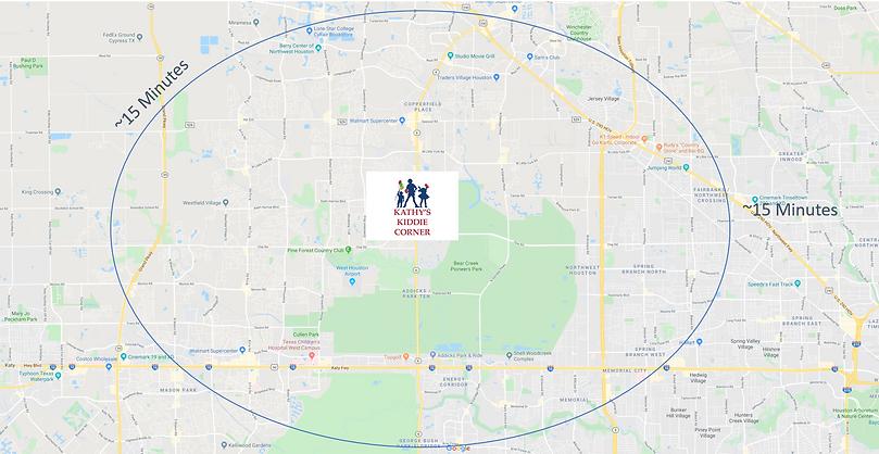 Map to Kathy's Kiddie Corner