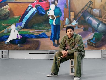 Por detrás da tela branca, os quadros de Titus Kaphar