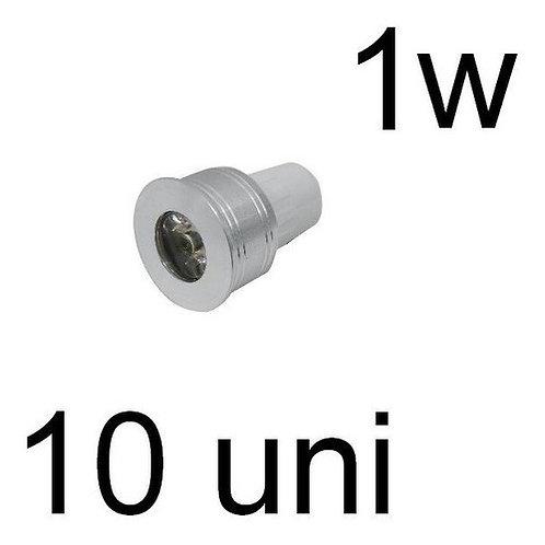 10 Lampadas Led Mini Dicroica Mr11 1w Bf Bivolt