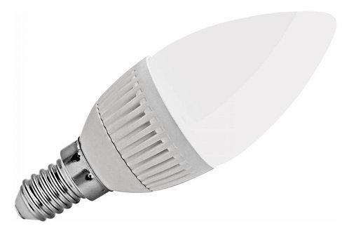 40 Lampada Led Vela Leitosa E14 5w Branco Frio Bivolt